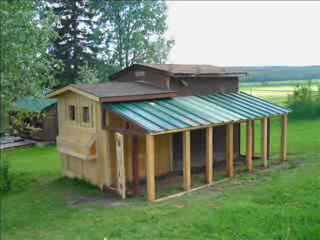 stationary chicken coop